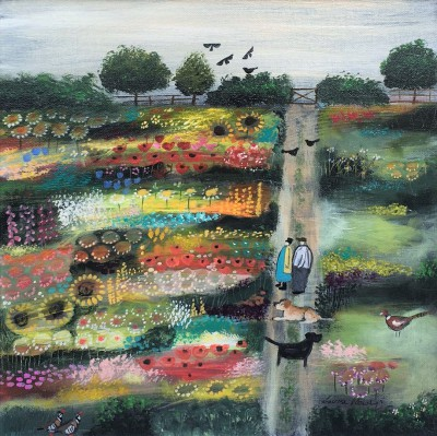 British Artist Louise RAWLINGS - Take a Moment to Smell the Flowers