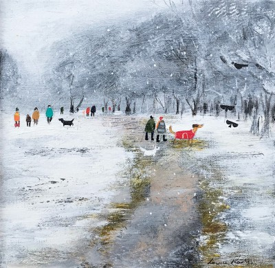 British Artist Louise RAWLINGS - A January Flurry