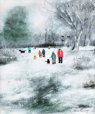 British Artist Louise RAWLINGS - Wintery Late Afternoon