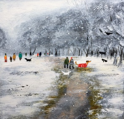 'A January Flurry' painting
