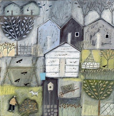 British Artist Louise RAWLINGS - The Old Sheds