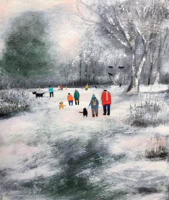 'Wintery Late Afternoon' painting