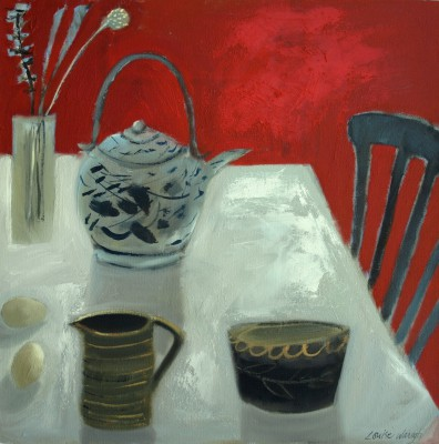 Louise WAUGH - Still Life in a Red Room