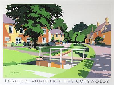 Limited Edition Prints Artist Alan Tyers - Lower Slaughter