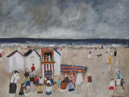 British Artist Malcolm TEASDALE - Punch and Judy Man