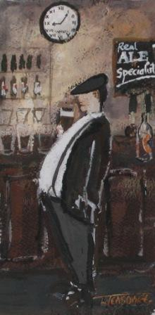 British Artist Malcolm TEASDALE - Downing The Pints