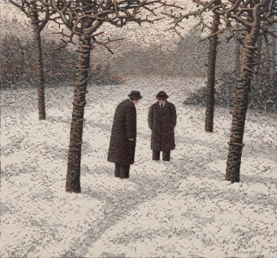 British Artist Mark EDWARDS - Killing Time Beside The Path