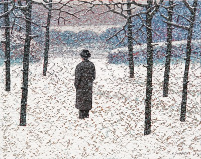 British Artist Mark EDWARDS - Standing In The Ring
