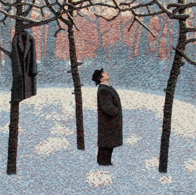 British Artist Mark EDWARDS - Watching The Crows