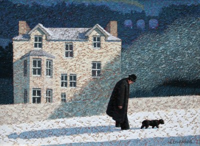Walking Home painting by artist Mark EDWARDS