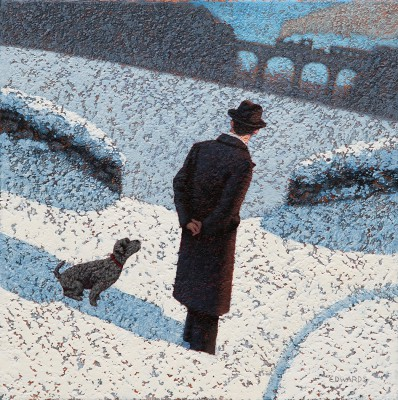 British Artist Mark EDWARDS - The Friendly Dog