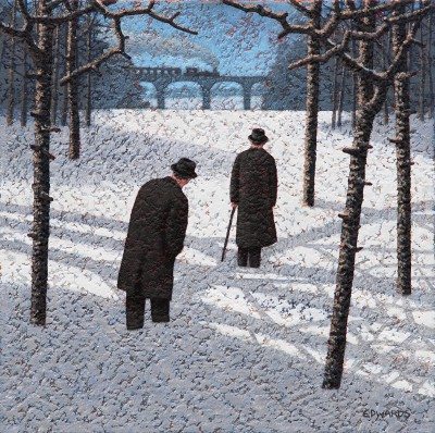 British Artist Mark EDWARDS - The Morning Train