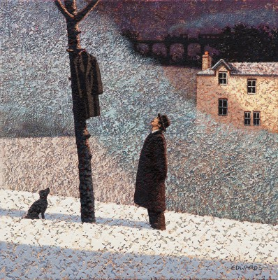British Artist Mark EDWARDS - Watching a Man Climb a Tree