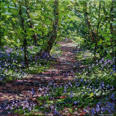 Mark PRESTON - Sunlit Bluebells, Allestree Woods
