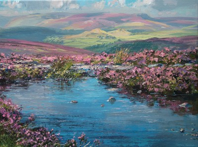 Mark PRESTON, contemporary artist - Reflected Blue, Stanage Edge