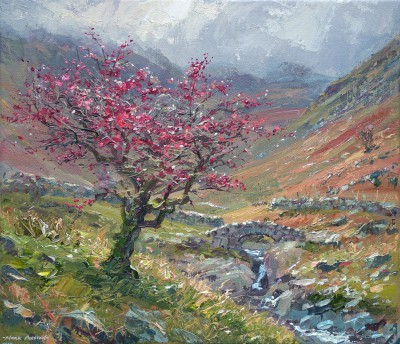 Mark PRESTON, contemporary artist - Autumn Hawthorn, Stockley Bridge