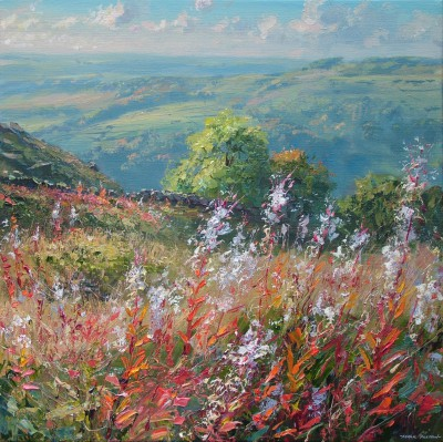 British Artist Mark PRESTON - Rosebay Willowherb, Curbar Gap