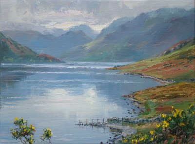 British Artist Mark PRESTON - Still October Day, Crummock Water