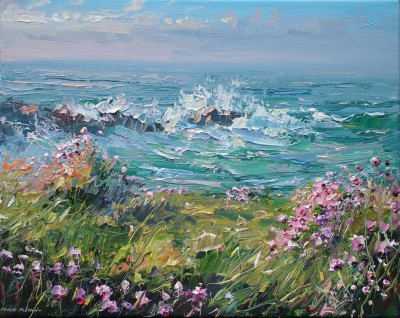 Spring Evening, Clodgy Point painting by artist Mark PRESTON