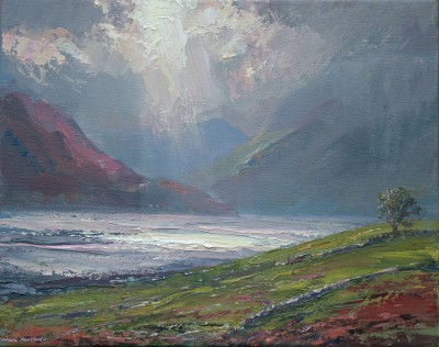 British Artist Mark PRESTON - Shifting Light, Crummock Water