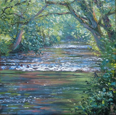 Mark PRESTON - Sunlit River, Dovedale