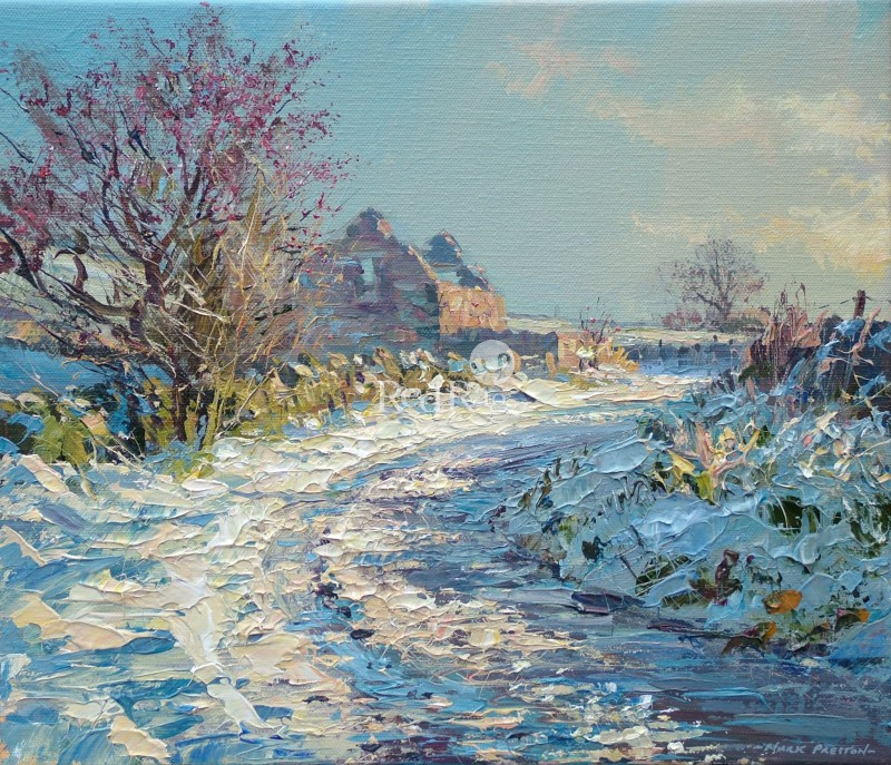 Mark PRESTON - November Snow, Malinscommon Lane