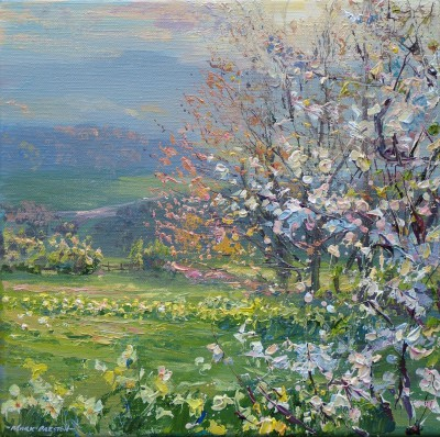 Mark PRESTON - Blackthorn and Daffodils, Ashleyhay