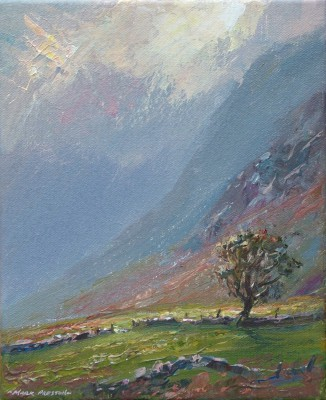 British Artist Mark PRESTON - Sunshine and Showers, Melbreak