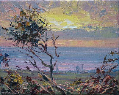 British Artist Mark PRESTON - September Evening, Carnyorth