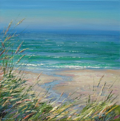 British Artist Mark PRESTON - Clear Day, Sennen Cove