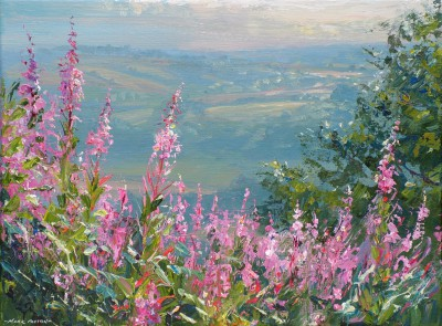 British Artist Mark PRESTON - Willowherb, Ashleyhay