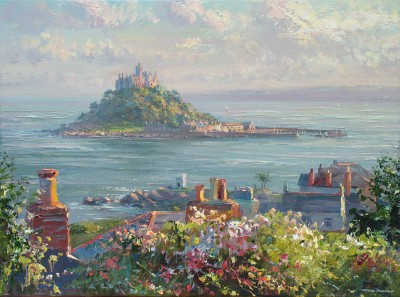 British Artist Mark PRESTON - Evening Light, Marazion