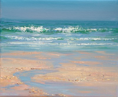 British Artist Mark PRESTON - Breaking Waves, Portmeor Beach