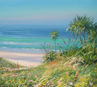British Artist Mark PRESTON - Cornish Palms, Vellandreath