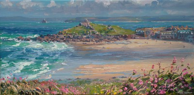 British Artist Mark PRESTON - Low Tide, Porthmeor Beach