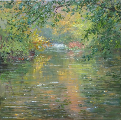 British Artist Mark PRESTON - Autumn, Millers Dale
