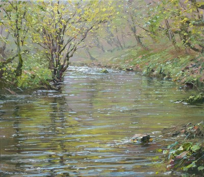 British Artist Mark PRESTON - Calm Reflections, Chee Dale