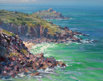 British Artist Mark PRESTON - Morning Light, Veor Cove