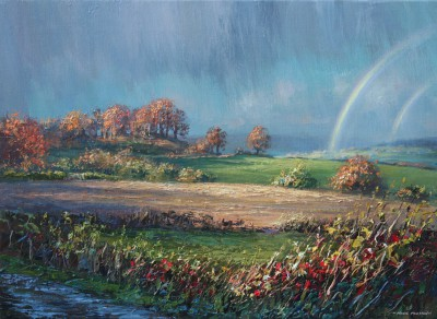 British Artist Mark PRESTON - Sunshine and showers, Gunhills