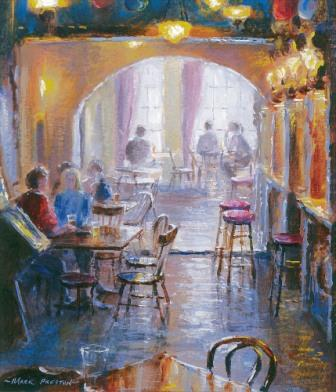 British Artist Mark Preston - Lunchtime, Blessington Carriage