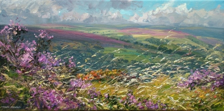 Mark PRESTON - Heather and Grasses, White Edge