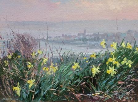 British Artist Mark Preston - Early Spring Towards Penzance