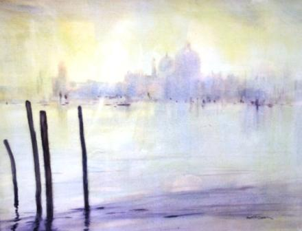 British Artist Martin CAULKIN - Entrance to the Grand Canal