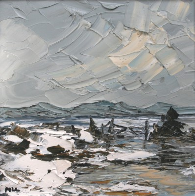 Winter Landscape painting by artist Martin LLEWELLYN