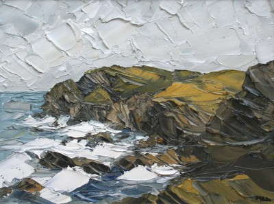 British Artist Martin LLEWELLYN - Cliffs Cornish Coast