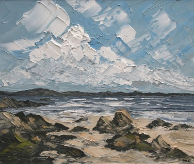 British Artist Martin LLEWELLYN - Clouds Over Iona