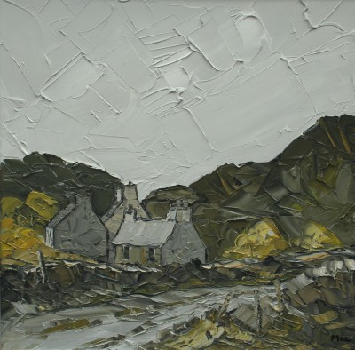British Artist Martin LLEWELLYN - Cottages North Wales