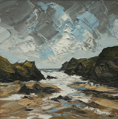 British Artist Martin LLEWELLYN - Clouds Over Porth Dafarch