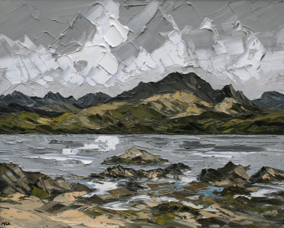 British Artist Martin LLEWELLYN - Clouds Isle of Skye