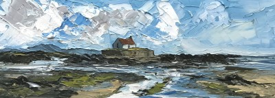 British Artist Martin LLEWELLYN - Low Tide, Porth Cwyfan